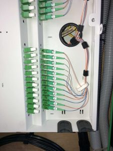 Inside wiring by our fiber optics team